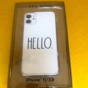 Rae Dunn iphone 11 XR case HELLO
